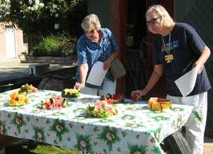 Watermelon tasting at Nine Palms project