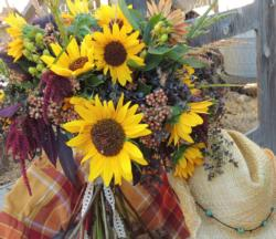 Sunflower arrangement Laura Westley